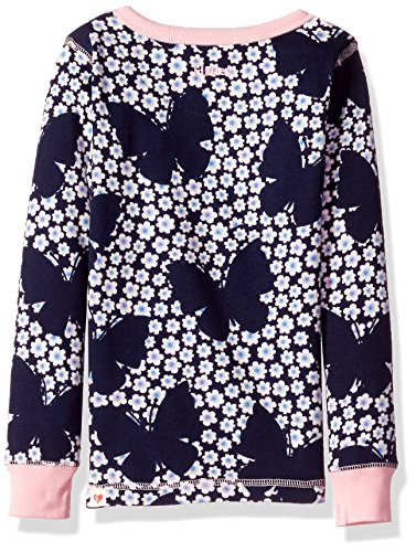 Hatley Little Girls' Organic Cotton Long Sleeve Printed Pajama Sets, Butterflies and Buds, 4 Years by Hatley (Image #2)