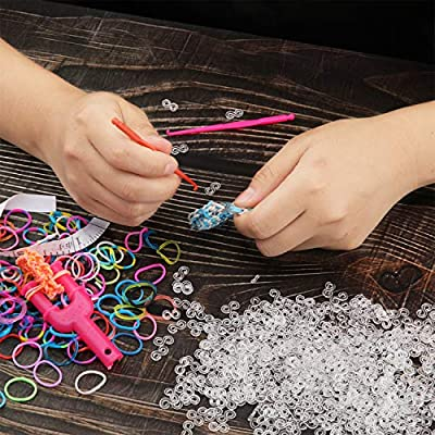 300 Pieces S Clips Rubber Band Clips Loom Band Clips Plastic Connectors Refills Bracelet Loom Clips for Loom Bracelets (Clear): Toys & Games