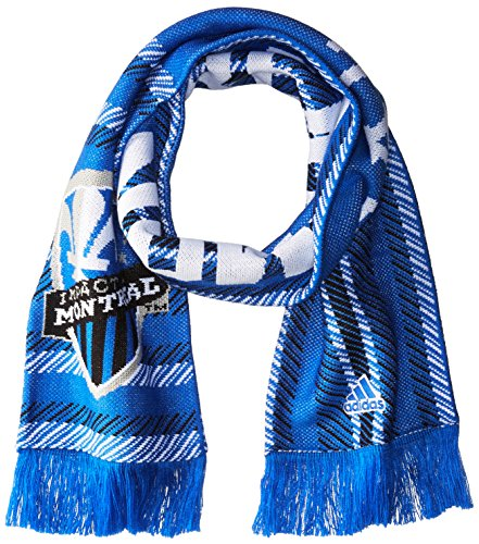 adidas MLS Montreal Impact Jacquard Scarf with Block Name, One Size, Blue