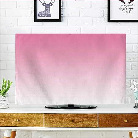 Jiahonghome Proteger su TV Harmony of Trendy Vivid Colores Temed Diseño Moderno Arte Aubergina Blanco Proteger su TV W19 x H30 Pulgadas/TV 32 Pulgadas: Amazon.es: Hogar