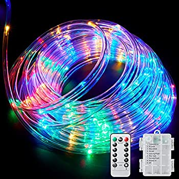 Amazon Com Ollivage Led Rope Lights Outdoor String