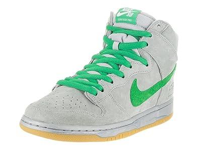 new style cf3e1 d54b9 Nike Men s Dunk High Premium SB Metallic Silver Hyper Verde Gu Skate Shoe 9