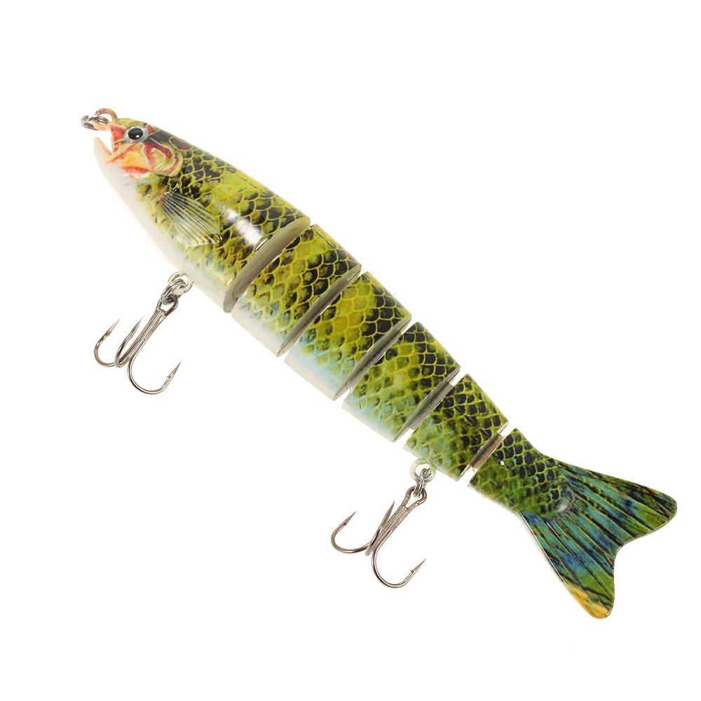 Lixada Pesca con esche artificiali 13cm/19g realistico 6 snodato sezioni trota Swimbait pesca esca duro
