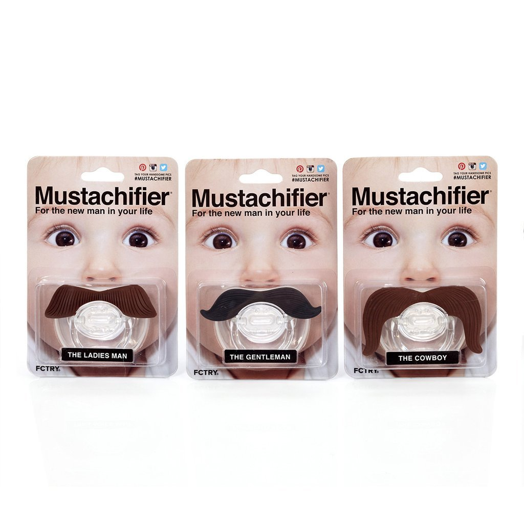 Hipsterkid BPA Free Mustachifier for Kids 0-48 Months in Full Monty Set by FCTRY