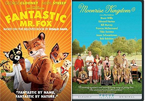 Moonrise Kingdom + Fantastic Mr. Fox 2 DVD Set Wes Anderson Films Double Feature
