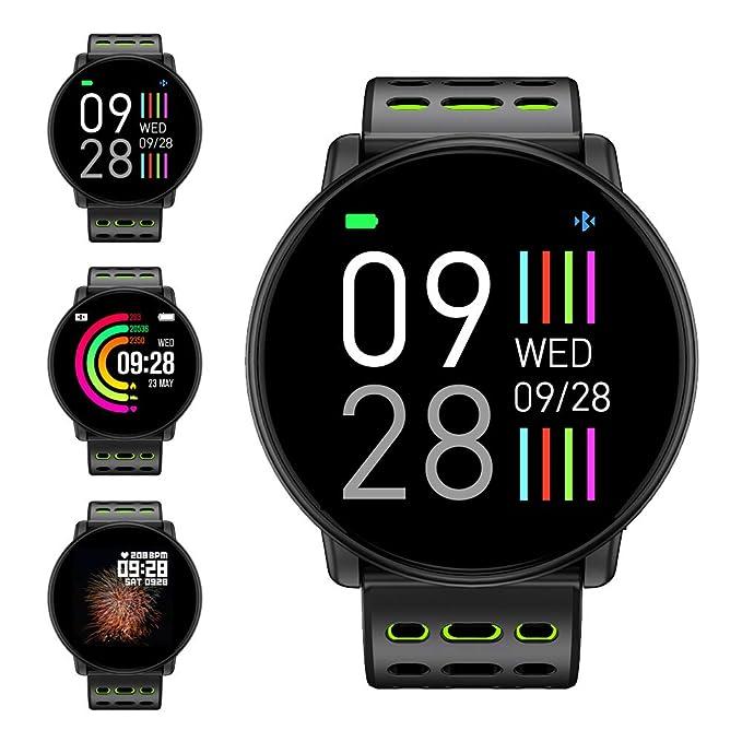 Montre Connectée, LIFEBEE Bluetooth Smartwatch Bracelet Sport Montre Intelligente Écran Couleur TFT 1,3 Pouces Étanche Podomètre, Sommeil, ...