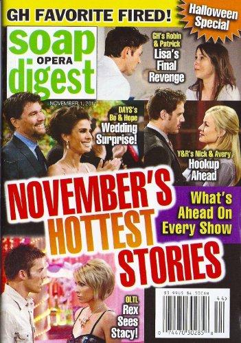 Christie Clark, Bryton James, Nadia Bjorlin & Brandon Beemer, Halloween Memories (and Pics!) from the Stars - November 1, 2011 Soap Opera Digest ()