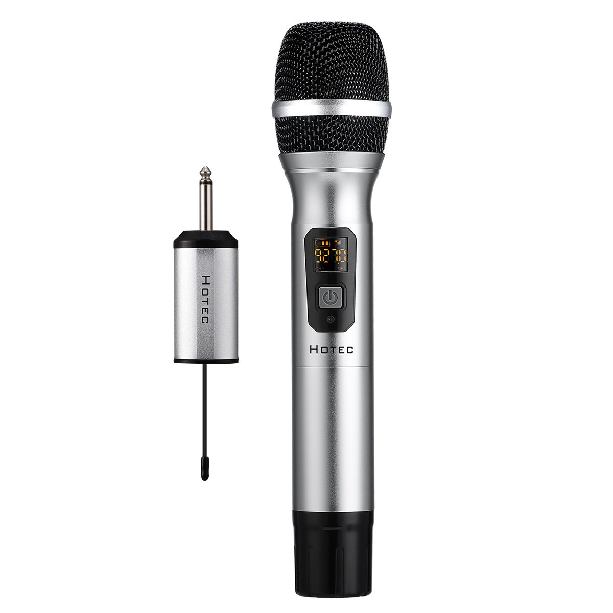 Hotec 25 Channel UHF Handheld Wireless Microphone with Mini Portable Receiver 1/4'' Output, for Church/Home/Karaoke/Business Meeting by Hotec