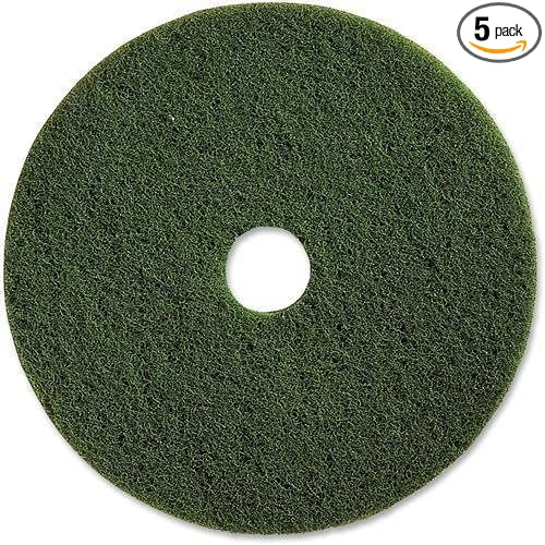 Genuine Joe 90313 Scrubbing Floor Pads, HVY-Dty, 13, 5/CT, Green 13