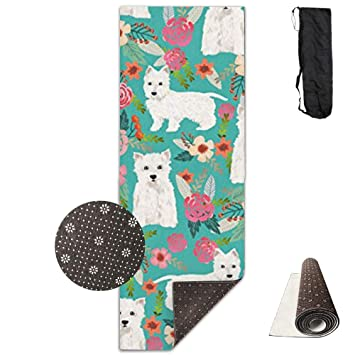 Amazon.com: KIOT156 Westie Florals Cute Dog Eco-Friendly Non ...