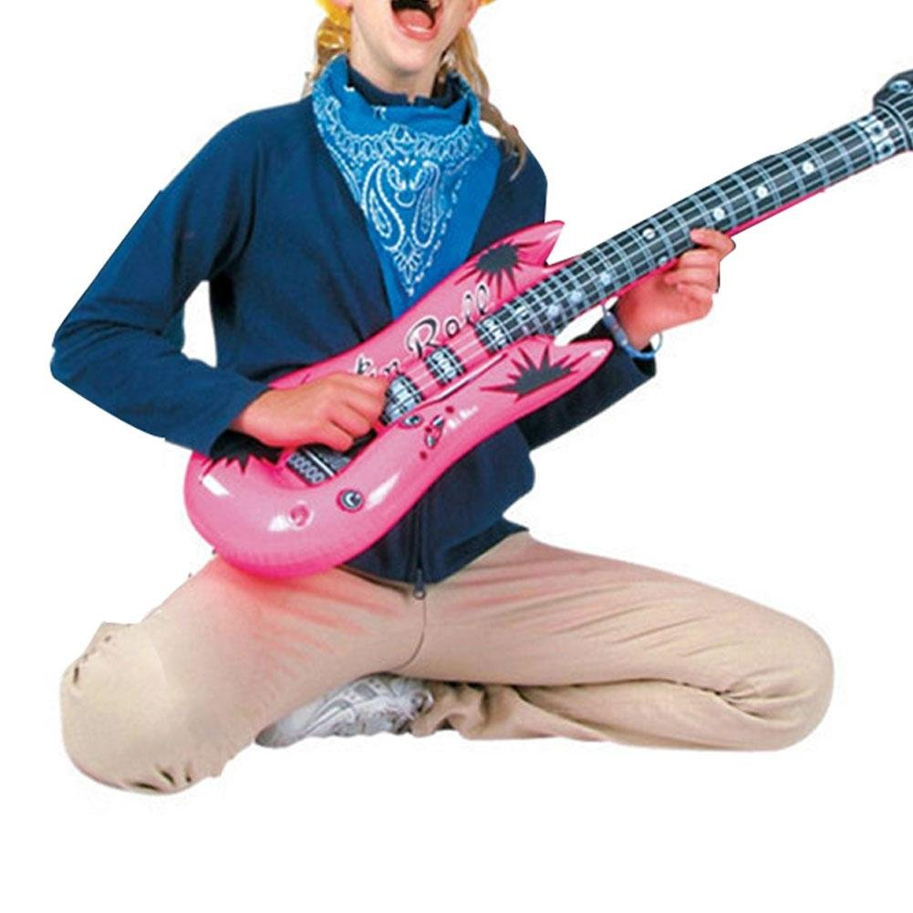 12pcs Large Size 106cm Inflatable Air Guitar Kids Children Toy Blow Up Party