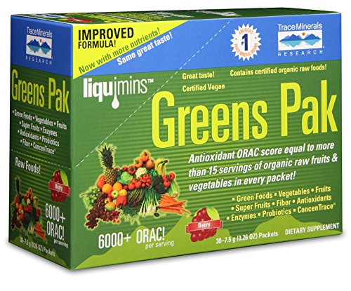 (Trace Minerals Research PGG02 - Greens Pak, 30 Packets (Berry))