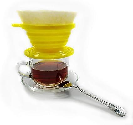 Kuke Filtro de café de silicona plegable con filtro de papel ...