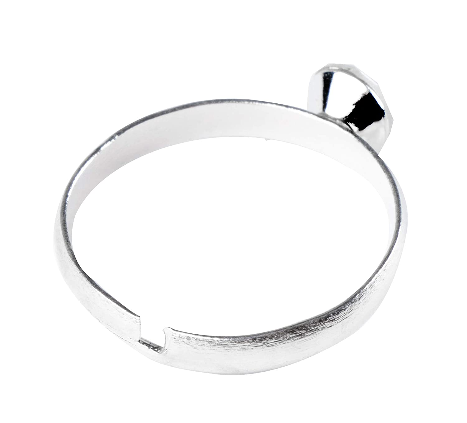 100-Count Engagement Party Supplies Table Decor Arts and Crafts Wedding Band Decoration Favors and Gifts Juvale Silver Diamond Bridal Shower Rings