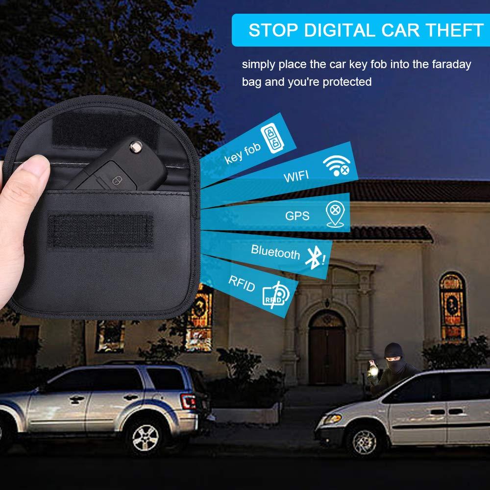 Faraday Tasche Auto Signal Keyless NFC /& RFID Schutzh/ülle -2 St/ück flintronic/® Mini RFID Keyless Go Schutz Autoschl/üssel WiFi LTE Blocker Schutzh/üllen f/ür Kreditkarten /& Bankkarten GSM