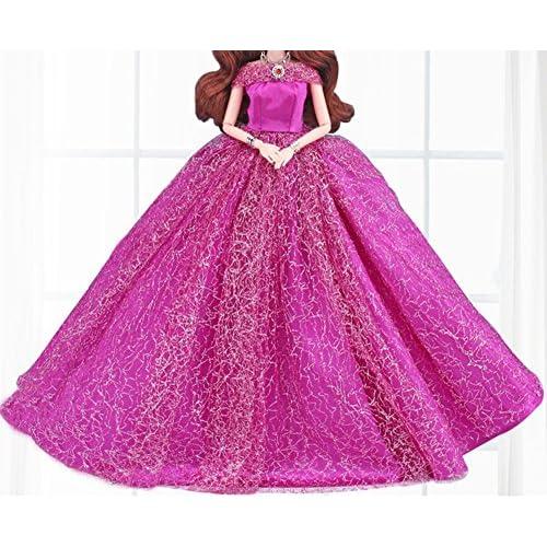 Mode magnifique robe de soirée à la main pour la poupée Barbie robes / vêtements /robe de poupée (2)