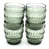 Euro Ceramica Fez Glassware Collection Old Fashion Glasses, 12oz, Set of 4, Gray Review