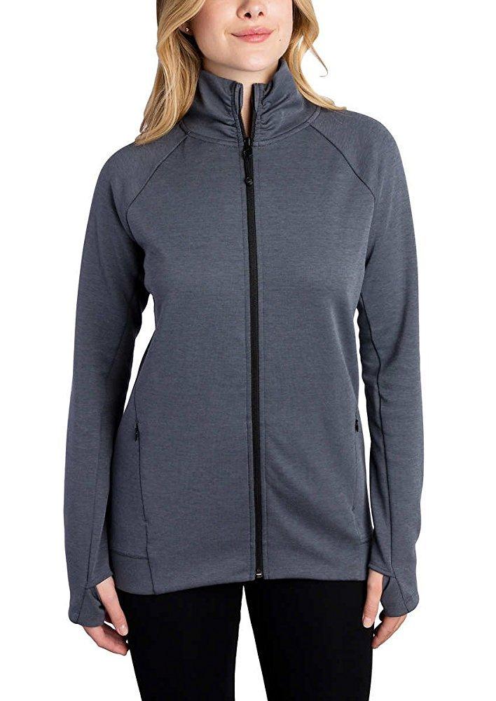 Kirkland Signature Ladies Full Zip Jacket (Dark Gray, Medium) by Kirkland Signature (Image #1)