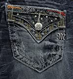 Miss Me Women's Embellished Slim Boot Cut, Medium Blue,26
