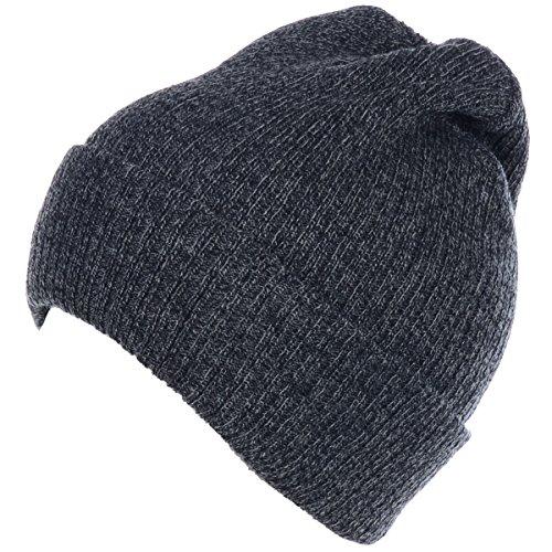 BYOS Unisex Winter Fall Urban Ribbed Beanie Fisherman Knit Skull Ski Hat (Dk.Gray w/o - Hat Chill No