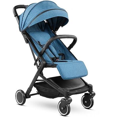Cochecito de bebé puede sentarse Horizontal plegable plegable en las cuatro ruedas paraguas de mano Viajes