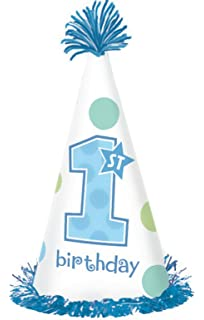 First Birthday Boy Fringe Party Hat
