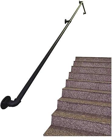 Pasamanos Escalera Las barandillas de hierro forjado de Ronda Escalera Paso externa o interiores |Escalera Barandilla for niños mayores de movilidad |Soporte de pared pasamanos de barandillas de apoyo: Amazon.es: Hogar
