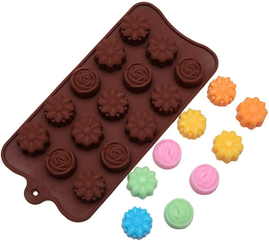 Cavity Silicone Flower Rose Chocolate Cake Soap Mold Baking Eis Tray Mould