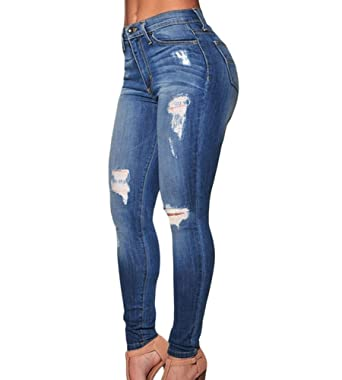 Skinny Jeans Damen High Waist