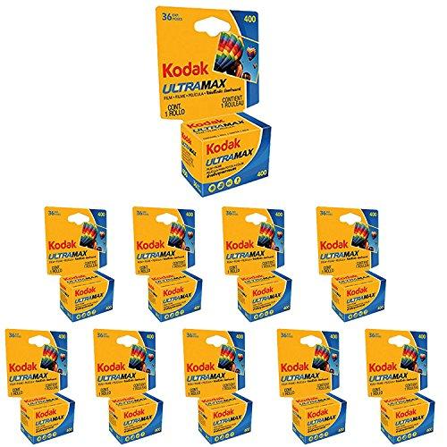10Rollos Kodak Ultra Max GC 135-36-Película de 35mm ISO 400de impresión de color (PACK OF 10) (35mm Film Pack)