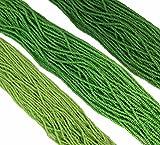 Green Opaque Mix Czech 11/0 Glass Seed Beads 3 Full Hanks Preciosa offers