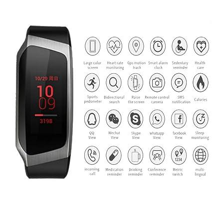 ZEERKEER Smartwatch Reloj deportivo Unisex Pulsera impermeable con rastreador de ejercicios con GPS Podómetro Calorías Monitor
