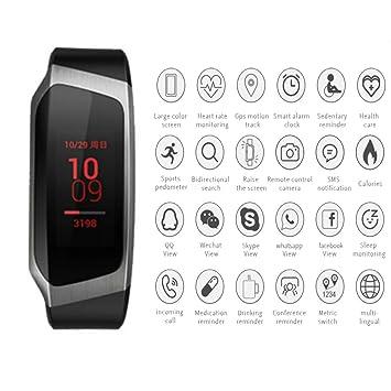 ... de ejercicios con GPS Podómetro Calorías Monitor Bluetooth Touch Reloj inteligente Compatible con Android iOS: Amazon.es: Deportes y aire libre