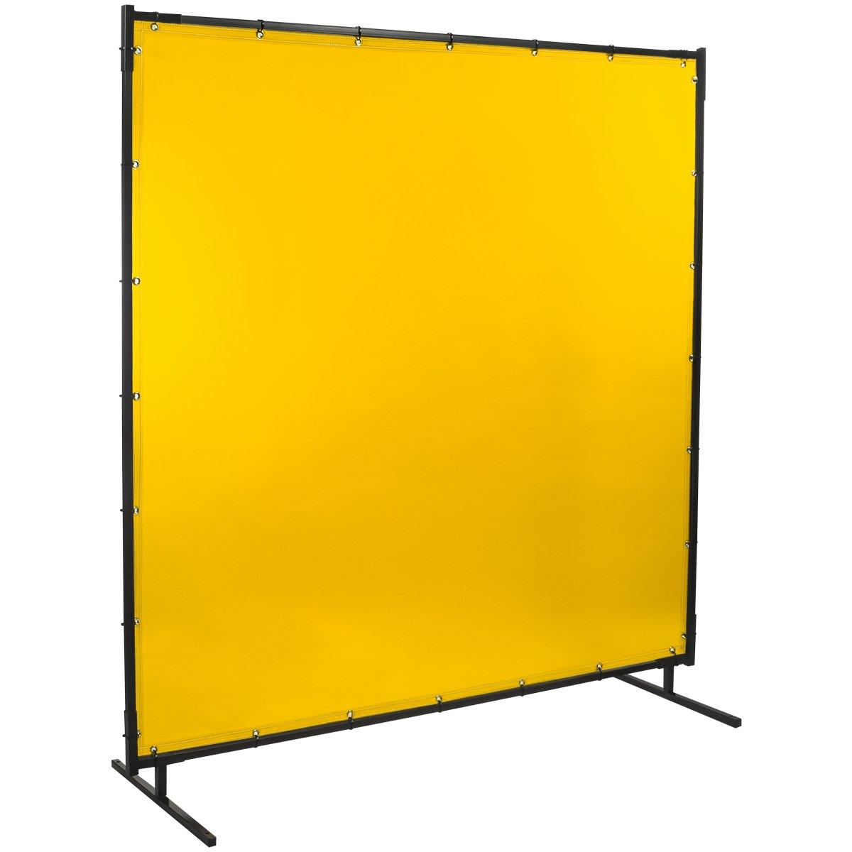 Steiner 534-4X5 Protect-O-Screen Classic Welding Screen with Flame Retardant 14 Mil Tinted Transparent Vinyl Curtain, Yellow, 4' x 5'