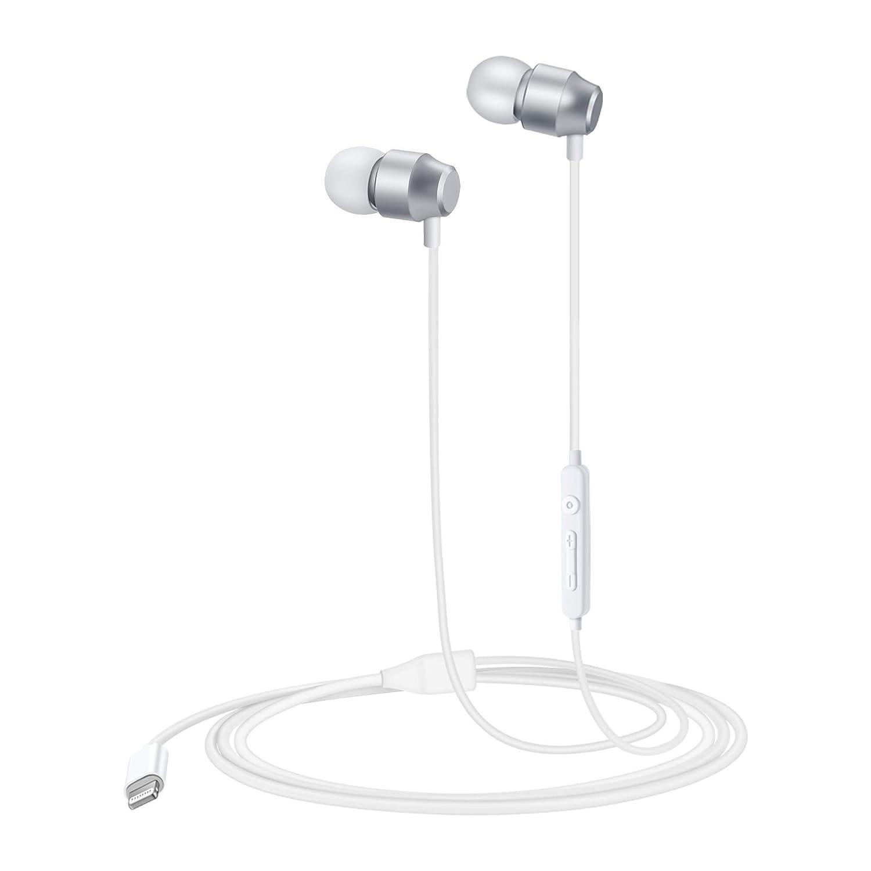 PALOVUE Earflow in-Ear Lightning Headphone Magnetic Earphone MFi Certified Earbuds Microphone Controller iPhone X iPhone 8/P iPhone 7/P (Metallic Black) 4336673216