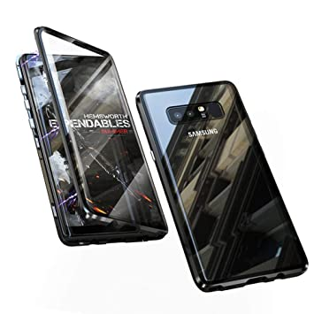 Funda para Samsung Galaxy Note 8 Carcasa Adsorcion Magnetica Tech Cover 360 Grados Protección Doble Háptico Vidrio Templado Marco Aluminio Imán Fuerte ...