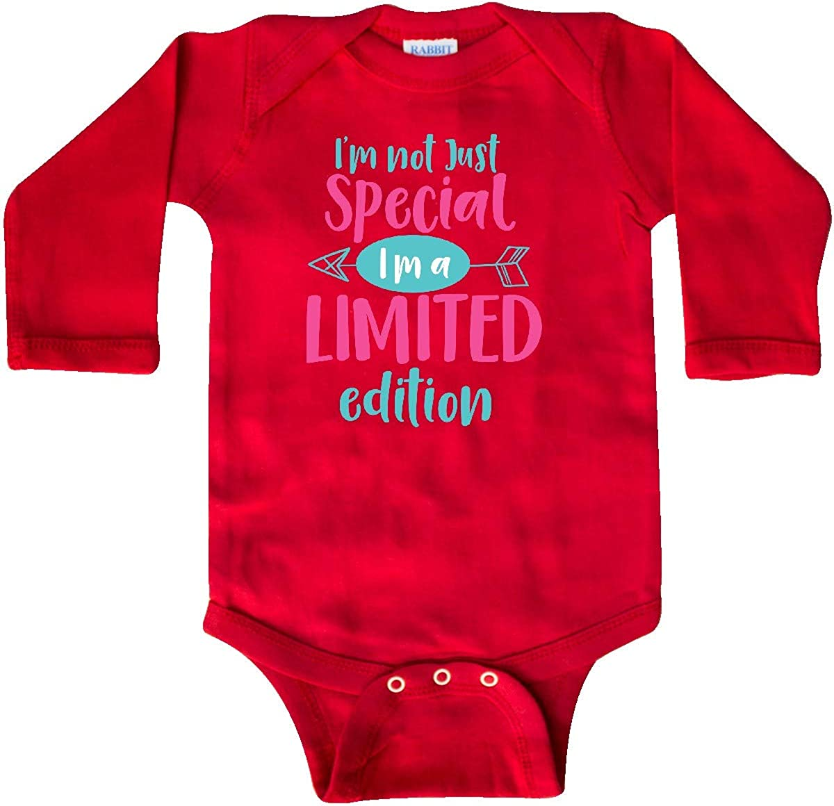 Im Limited Edition inktastic Im Not Special Pink Blue Long Sleeve Creeper