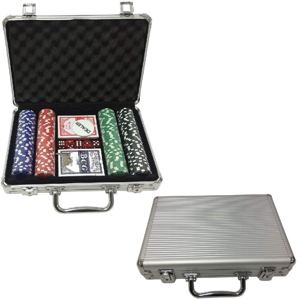 Ak Sport 0603014 Juego de póquer maletín de Aluminio de 200 Piezas: Amazon.es: Juguetes y juegos