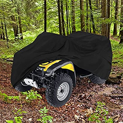 "Neh® Heavy Duty Waterproof Atv Cover Fits Up To 99"" Length Superior Atv Covers 4-wheeler 4x4 Black Color, Polaris, Suzuki, Yamaha, Kawasaki, Honda, Atv Cover Rancher, Foreman, Fourtrax, Recon"