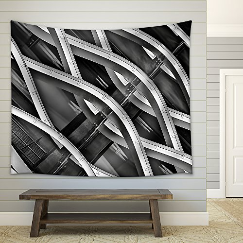 Abstract Design Curve Line Fabric Wall Tapestry