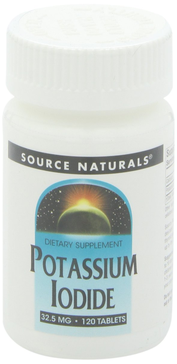 120 tabletas de yoduro de potasio de Source Naturals, 32.5mg: Amazon.es: Salud y cuidado personal