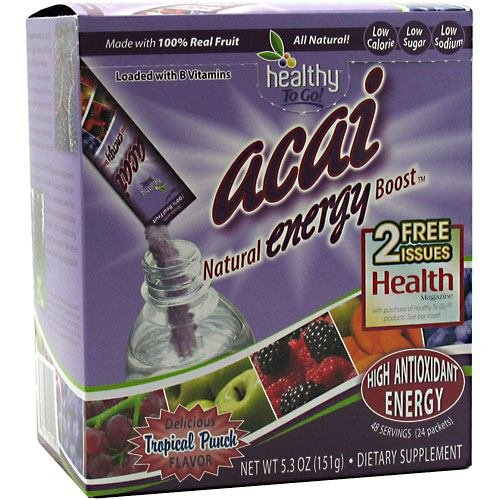 To Go Brands Acai Natural Energy Boost Powder - 24 Packets