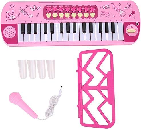 Felenny Niños Piano Eléctrico Premium 32 Teclas Teclado Electrónico Portátil con Micrófono Teclado de Aprendizaje de Piano Regalo Educativo de ...
