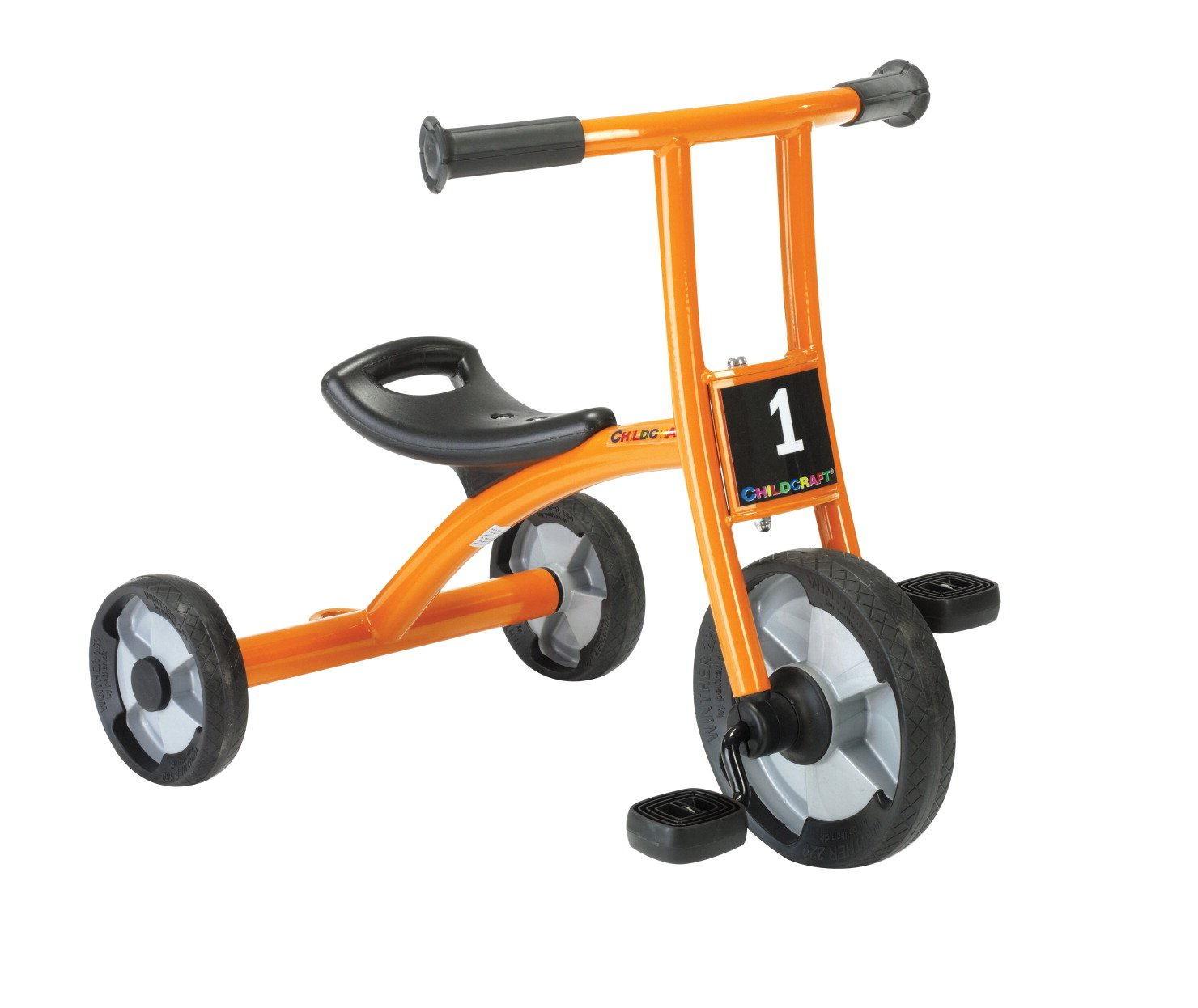 Childcraft Orange and Black Tricycle, 10'' H