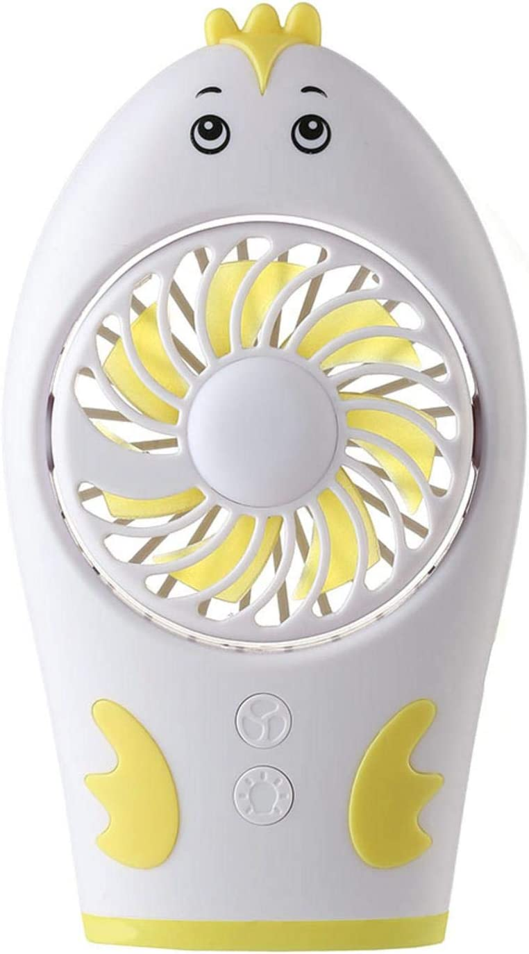 Bloomma Portable Min Fan USB Rechargeable with Colorful Night Light Handheld Fan fit Travel//Walking
