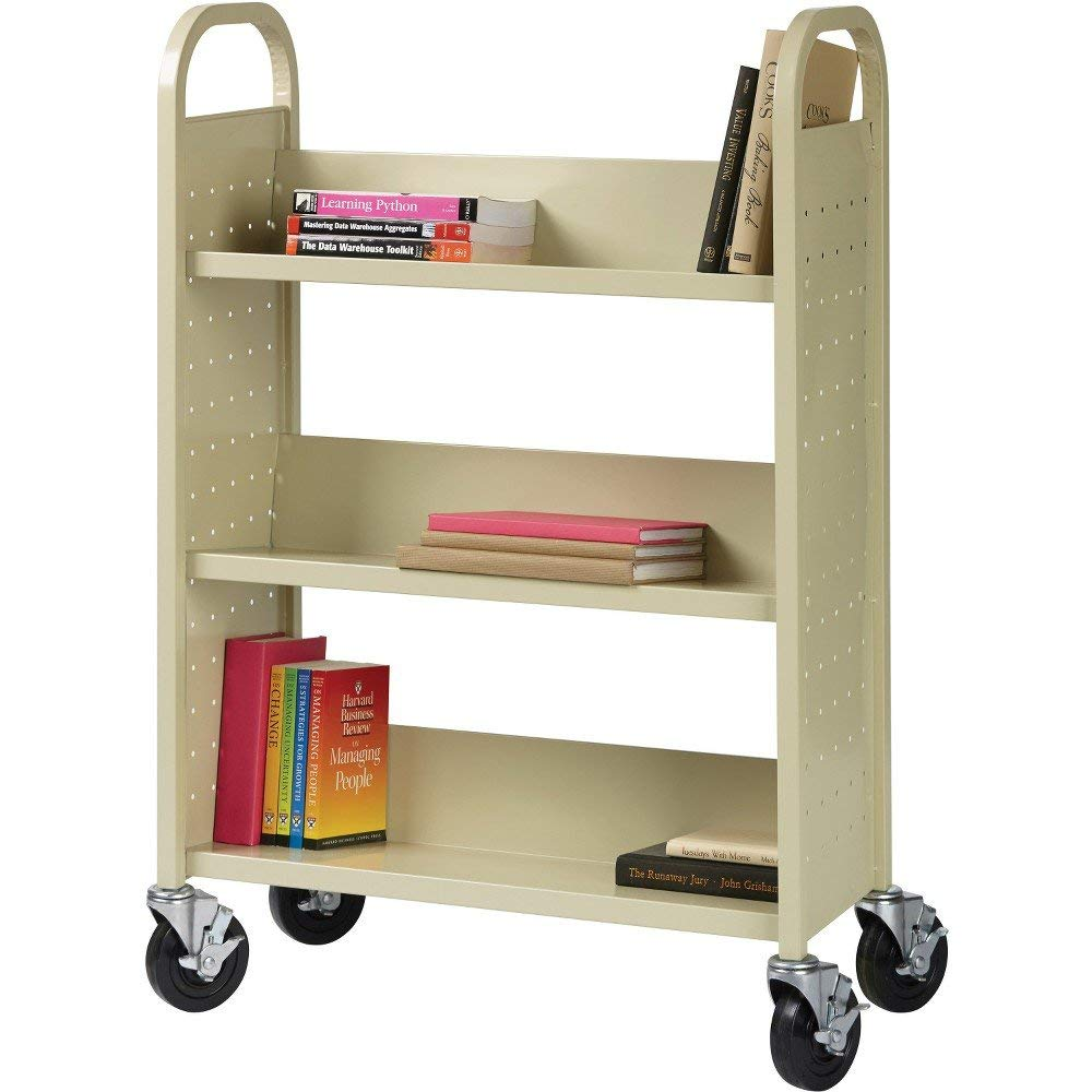 Lorell Single Sided Book Cart by Lorell