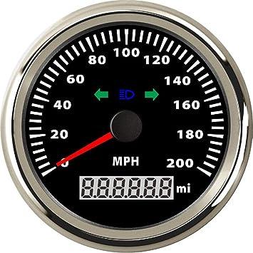 3 inch 80 mph GPS Speedometer Sierra International 781-579-080P Amega Gauge