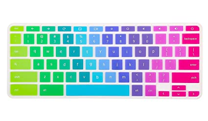 photo about Printable Computer Keyboard named iKammo Rainbow Keyboard Go over for Acer Chromebook R 11 CB5