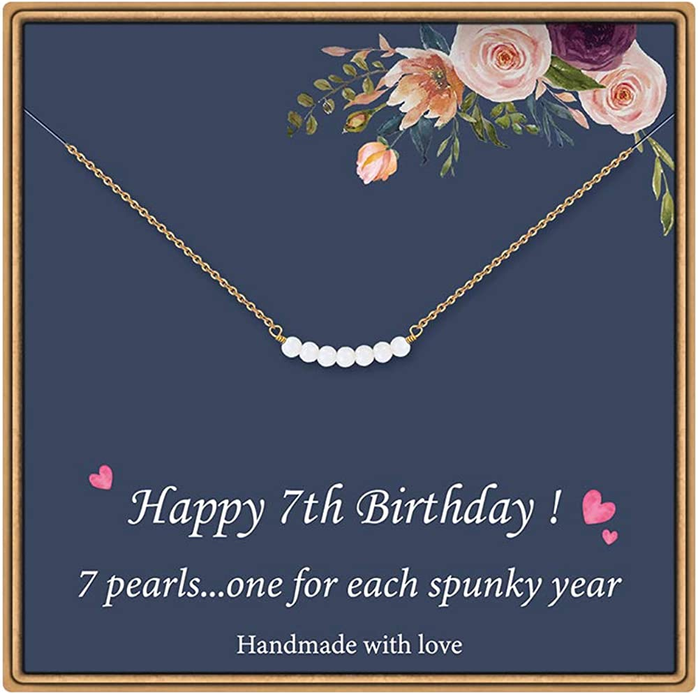 21st birthday key sentiment charm bead pearl bracelet present  gift daughter