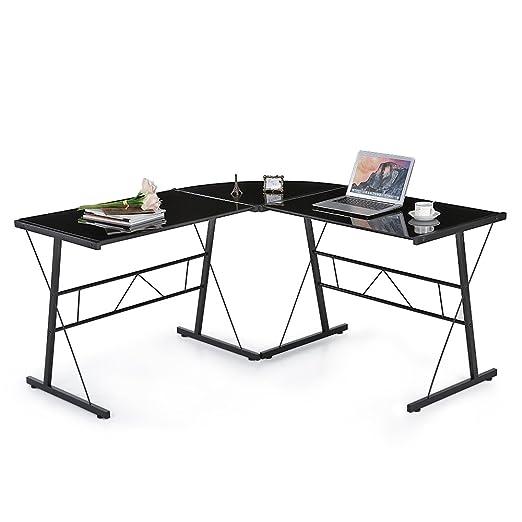 isremi (TM) ikayaa en forma de L esquina escritorio de pie ...